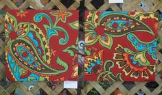 Red Fall Paisley - love these!