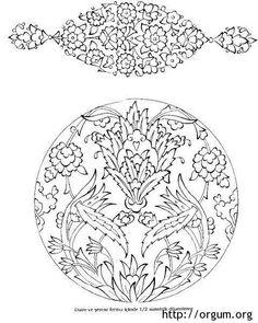 Çini Islamic Art Pattern, Arabic Pattern, Pattern Art, Turkish Pattern, Outline Art, Persian Motifs, Turkish Art, Filigree Design, Tile Art