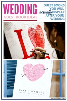 Create Unique Details For Your Wedding With A Creative Wedding Guest Book Alternative. Nowadays There Are More Creative Ideas For Wedding Guestbooks. A Canvas Sign Makes A Great Alternative To A Tradi Creative Wedding Ideas, Creative Ideas, Fingerprint Wedding, Guest Book Sign, Guest Books, Personalized Wedding Guest Book, Wedding Signs, Wedding Vendors, Gift Wedding