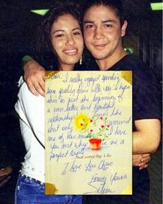 Letter from Selena to Chris Selena Quintanilla Perez, Selena And Chris Perez, Her Music, American Singers, Quality Time, Corpus Christi, My Idol, Lettering, Relationship