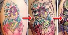 Check Out The Top 10 Most Awesome Tattoo Repair Art! Bad Tattoos, Cool Tattoos, Cash Advance, Tattoo You, Awesome, Amazing, Weird, Cool Stuff, Check