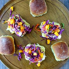 Spiced Cod Sliders with Mango Confetti Slaw | The Foodie Physician