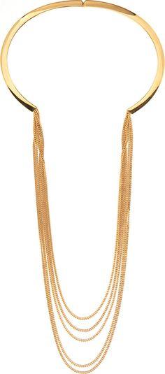 Chlo� - Gold Rigid Delphine Necklace
