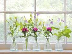 Image result for bud vase arrangements Wild Flower Arrangements, Vase Arrangements, Bud Vases, Pretty Little, Wild Flowers, Glass Vase, Bouquet, Garden Cottage, Image