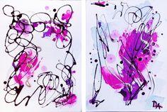 ARTFINDER: pure abstraction #3 by Dariya Afanaseva - 2 canvas on cardboard 25x35 cm each 35cm x 50cm 2015