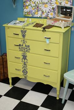 Dresser redo - maybe I'll do something similar to this with my dessers