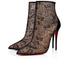 748ec4ac76f7 Psybootie 100 Version Black Dentelle Touze - Women Shoes - Christian  Louboutin