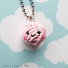 Happy Ball of Yarn Necklace...I love this.