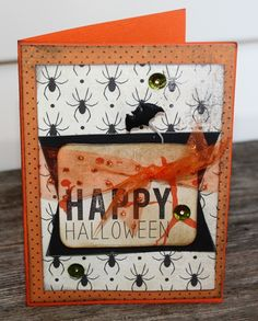 Happy Halloween Card by Rhonda Merry for Front Porch Kit- Boo in a Box!