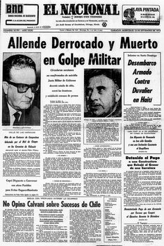 El Nacional (Venezuela) - 11 de septiembre de 1973. Allende derrocado y muerto en Golpe Militar. Spanish Lesson Plans, Spanish Lessons, Spanish Classroom, Teaching Spanish, Military Dictatorship, Ap Spanish, Argentine, Chili, World History
