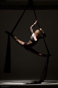Nicole Pearson - Aerial Silks    I like the shadows in this shot.  Costuming