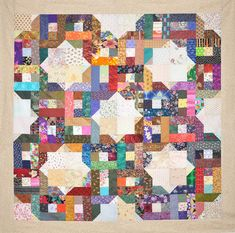 Bedford Mystery by Lessa Siegele this versatile Scrap Quilt Pattern is easy to make and can be cut on an Accuquilt. Easy Beginner Pattern from . Jellyroll Quilts, Scrappy Quilts, Baby Quilts, Patchwork Quilting, Mini Quilts, Plus Quilt, Scrap Quilt Patterns, Cot Quilt, Scrap Busters