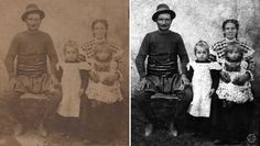 Another one of my family old photos, from my mother's side. Restored, not colorized. Cca 1917, the youngest is my grandmother, her older sister and their parents. Bulgaria