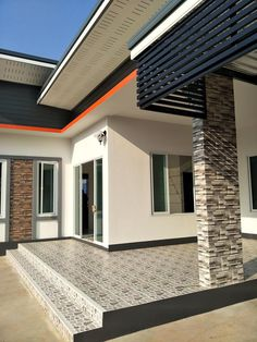 Flat Roof House Designs, Modern Bungalow House Design, Small Modern House Plans, Duplex House Design, Two Story House Design, 2 Storey House Design, House Front Design, Classic House Exterior, Dream House Exterior