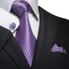 Light Purple Silk Necktie Set JPM18645