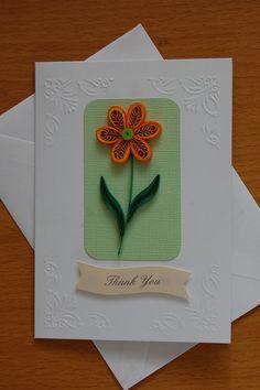 Quilled Orange Flower