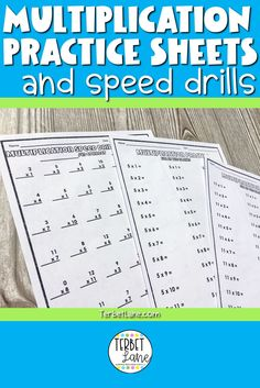 This set of print and go multiplication facts worksheets and speed drills is a quick, easy, no prep way to learn or review facts. Great for math centers, homework, and at home learning. #terbetlane