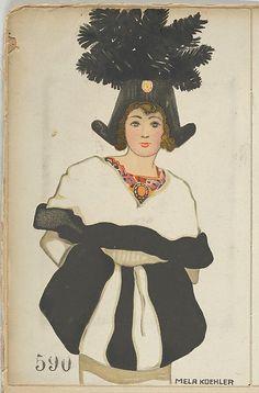 Fasion (Mode), Artist: Mela Koehler (Austrian, Vienna 1885–1960 Stockholm) Publisher: Published by Wiener Werkstätte Date: 1912