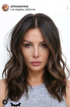 Medium Hair Cuts, Medium Hair Styles, Curly Hair Styles, Medium Curls, Medium Waves, Lob Hairstyle, Hairstyle Color, Balayage Brunette, Ashy Balayage