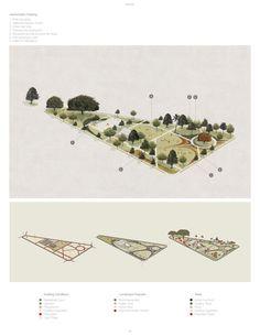 Landscape Architecture Drawing, Landscape And Urbanism, Architecture Concept Drawings, Architecture Collage, Architecture Graphics, Architecture Visualization, Architecture Portfolio, Architecture Diagrams, Ideas Paneles