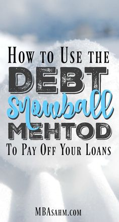 The Debt Snowball Method is the quickest and easiest way to pay off your loans and get out of debt. It's easier than you think and you can start it right away!