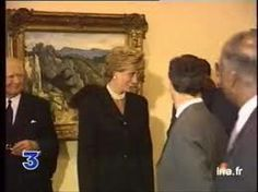 September 25, 1995: Princess Diana at the Cezanne exhibition French President Jacques Chirac and his wife Bernadette...