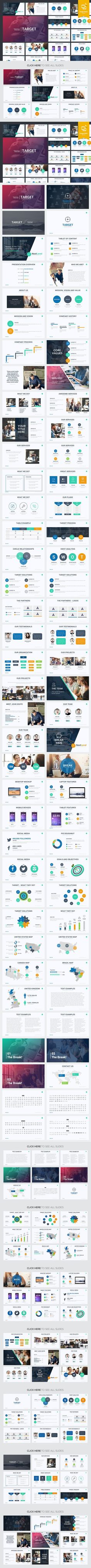 Modern art powerpoint presentation template business powerpoint target google slides template toneelgroepblik
