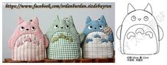 images attach b 4 113 751 Totoro, Cat Crafts, Diy And Crafts, Japanese Patchwork, Key Bag, Felt Purse, Key Covers, Patchwork Fabric, Sewing Appliques