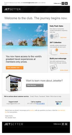 Great email templates from newsletters to sign-up confirmations!