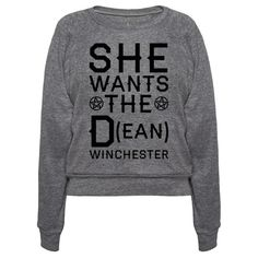 Everyone knows that Dean Winchester is the hottest brother in the Supernatural TV series. This shirt is perfect for the supernatural fan who is just a little bit in love with the characters. So, next time you want to wear something funny and true gran this She Wants The D t shirt.