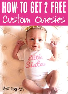 Baby Girl Fashion - Newborn Infant and Coming Home Clothes!  A sweet personalized baby onesie or funny baby snappie is one of the CUTEST ways to liven up baby's wardrobe!  These also make such fun baby shower gifts, too!  Have you gotten yours yet?? Fun Baby, Happy Baby, Baby Girl Fashion, Kids Fashion, Fall Fashion, Custom Baby Onesies, Best Baby Shower Gifts, Personalized Baby Gifts, Baby Leggings