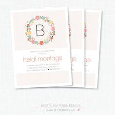 Baby+Shower+Invitation++Bridal+shower+Birthday+by+PrintSmitten,+$16.00