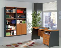 Primo Computer Study Desk With 3 Drawers Office Furniture 140cm Grey Chestnut