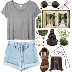 """DAY WEAR - SPIRITUAL TRAVELS"" by pretty-basic on Polyvore"
