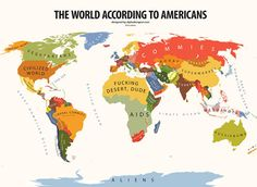 Mental world map of Americans