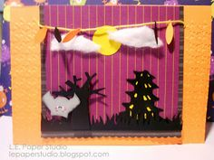 """L.E. Paper Studio - Halloween 5"""" x 7"""" card using Simply Charmed and Sweet Tooth Boxes"""