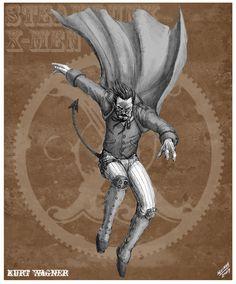 Nightcrawler Steampunk Rdesign by *sketcheronline on deviantART