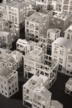 "Stephanie Beck - detail of ""neighborhood arrangement maze"". From the Cite de l'Architecture & Heritage in Paris, France, had an exhibition at le palais de chaillot in entitled 'paper architecture'. Maquette Architecture, Architecture Design, Paper Architecture, Paris, Monospace, Paper Structure, 3d Modelle, Arch Model, Exhibition"