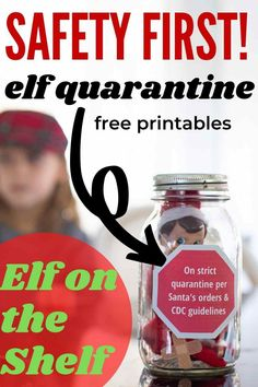 Free Printable Elf on the Shelf Quarantine Gear - Perfect for 2020! #elfontheshelf #elfontheshelfideas #elfontheshelfquarantine #elfontheshelfprintables #elfontheshelffreeprintables