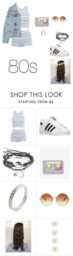 """80s"" by kidsoutfits-1 ❤ liked on Polyvore featuring Topshop, adidas, Hot Topic, Laser Kitten, Nephora, Monsoon and Chicnova Fashion"