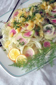 ... radishes fennel endive salad radish salad lemons radishes radishes