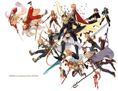 Tags: Yuna, Tidus, Cloud Strife, Squall Leonhart, Aerith Gainsborough, Dissidia, Zidane Tribal, Jecht, Vaan, Pixiv, Butz Klauser, Firion, Warrior Of Light, Onion Knight, Tifa Lockhart, Cecil Harvey, Tina Branford, Kain Highwind, Laguna Loire, Oka (a.m.), Lightning Farron