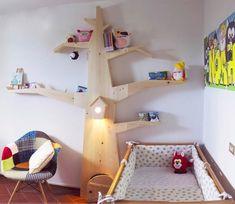 mommo design: TREES IN KID'S ROOM