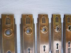 HOME DECOR Art deco Door plates Antique decorative door : decorative door plates - pezcame.com
