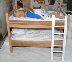 "Kailey out like a light...  Bunk Bed for 18 ""Dolls"