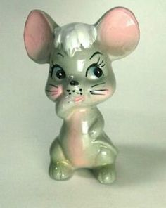Pepper Shaker Popogigio Mouse Vintage Rare Japan New #SaltPepperShakers
