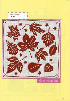 Autumn leaves cross stitch pattern - free cross stitch patterns crochet knitting amigurumi