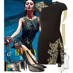 Asian Dahlia by eleonoragocevska on Polyvore featuring polyvore fashion style Dsquared2 Louis Vuitton Annoushka Blue Nile NARS Cosmetics Chanel Yves Saint Laurent Tom Ford Christian Louboutin Sergio Rossi