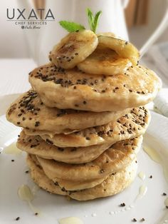Pancakes with a twist #Private #Chef #Cancun & #RivieraMaya #recipes #breakfast Sunday Recipes, Private Chef, Banana Slice, Food Names, Personal Chef, Non Stick Pan, Home Chef, Sunday Brunch, Special Recipes