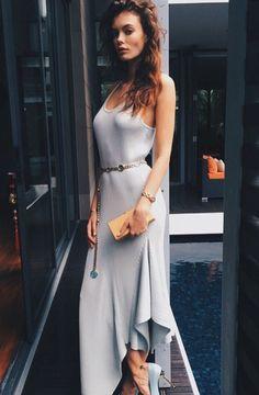 bohemian street style maxi dress